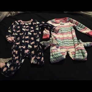 Other - Toddler girls footed onesies
